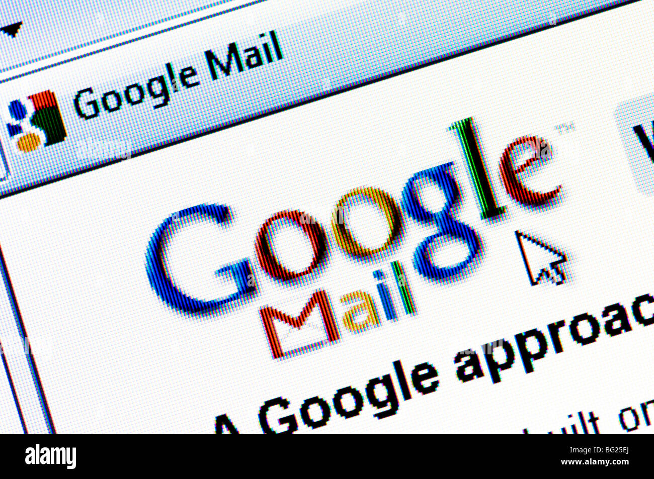 Screenshot of the Google Mail website (aka GMail) - the free email service run by internet giant Google. Editorial - Stock Image
