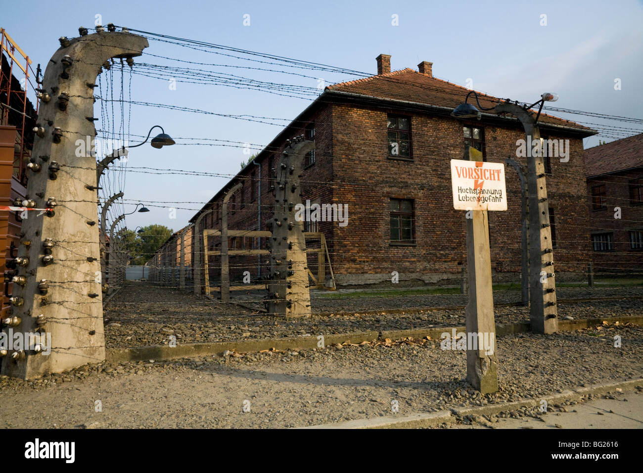 Death On Electric Fence Great Installation Of Wiring Diagram Electrical For Perimeter Warning Sign At Auschwitz Nazi Camp Rh Alamy Com Funny