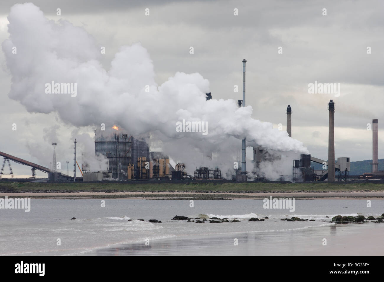 Redcar SSI steelworks blast furnace and coke ovens. Redcar, north east England Stock Photo