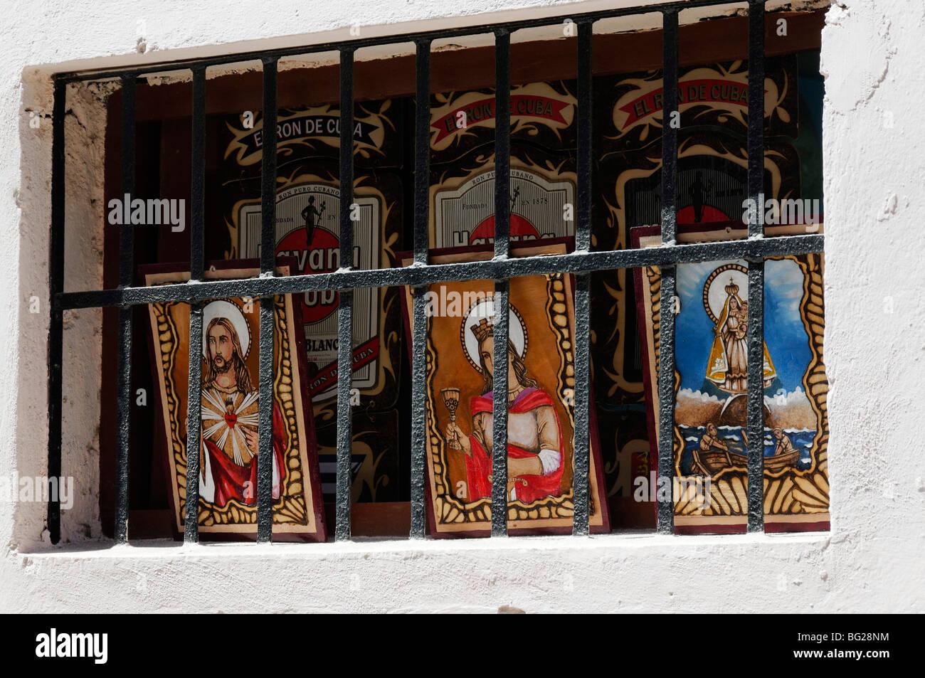 Christian iconography, Havana, Cuba - Stock Image