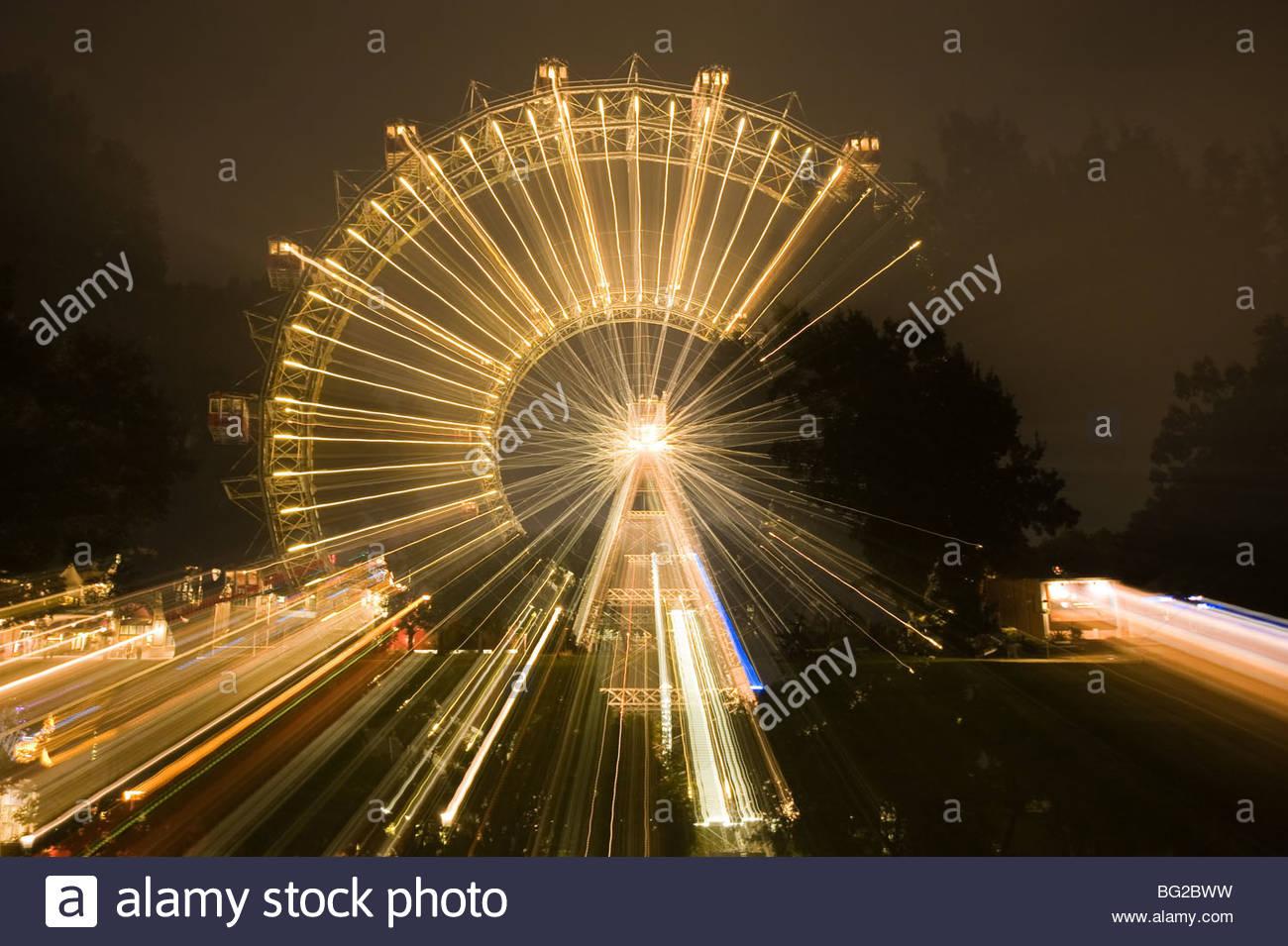 Wien, Prater, Riesenrad - Vienna, Prater, Giant Wheel - Stock Image