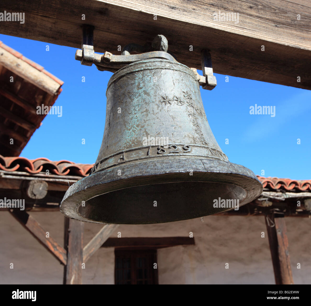 Mission Bell in Sonoma, California, USA. - Stock Image