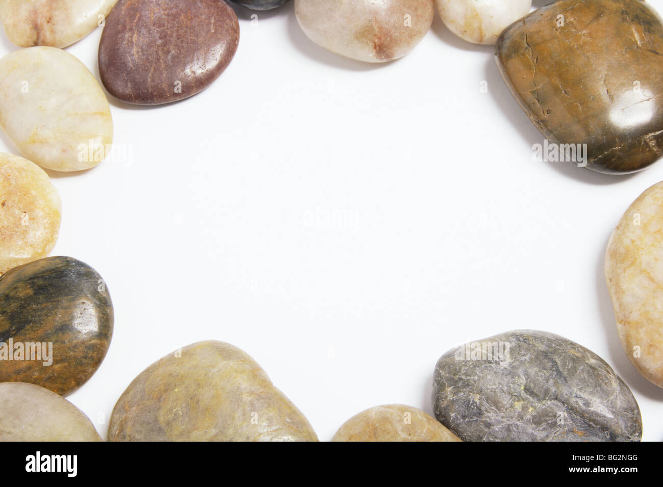 Pebbles with Copyspace - Stock Image