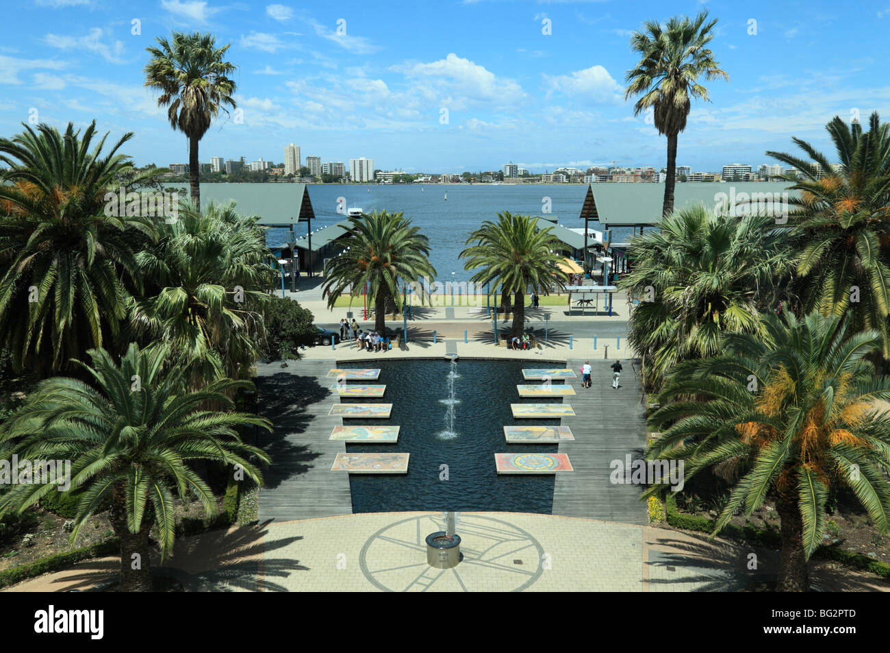 The Swan River in Perth from the Bell Tower - Stock Image