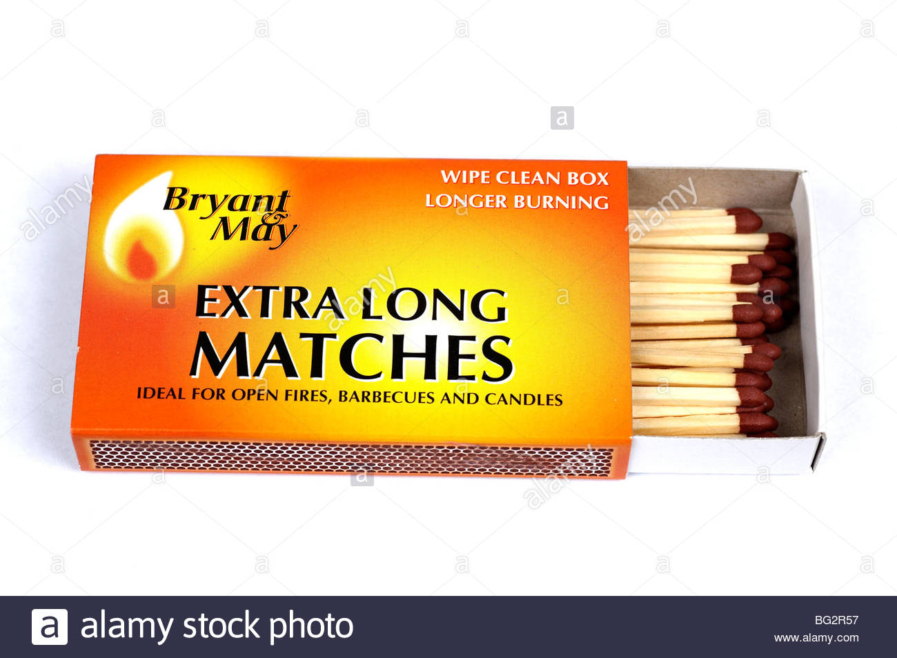 Box of extra long matches - Stock Image