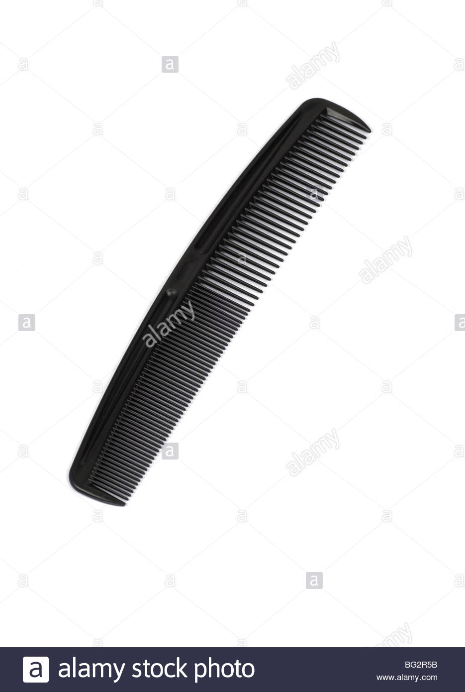 Black hair comb - Stock Image