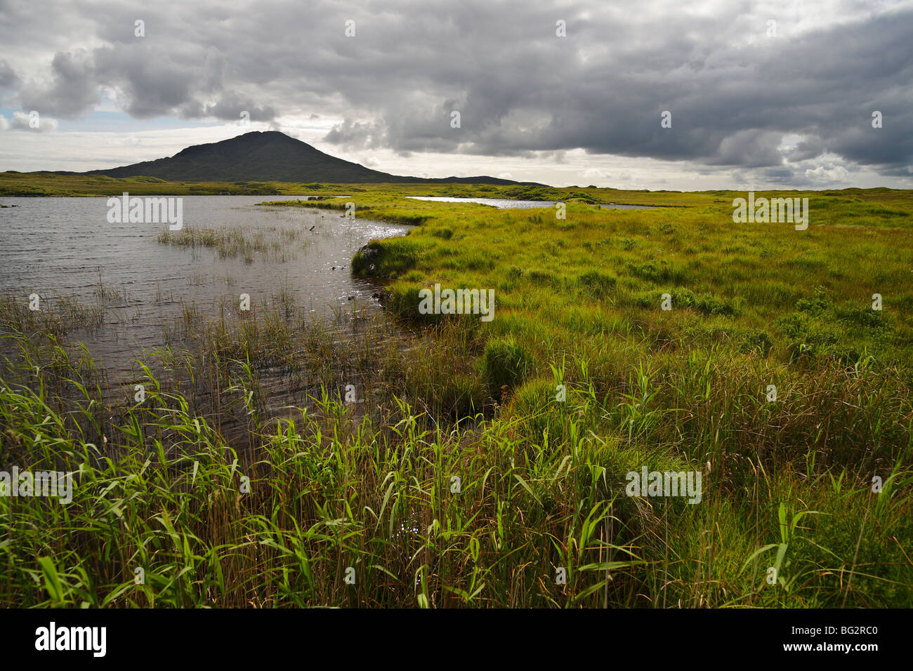 moorlands near Glinsk in the South of Connemara, Ireland - Stock Image