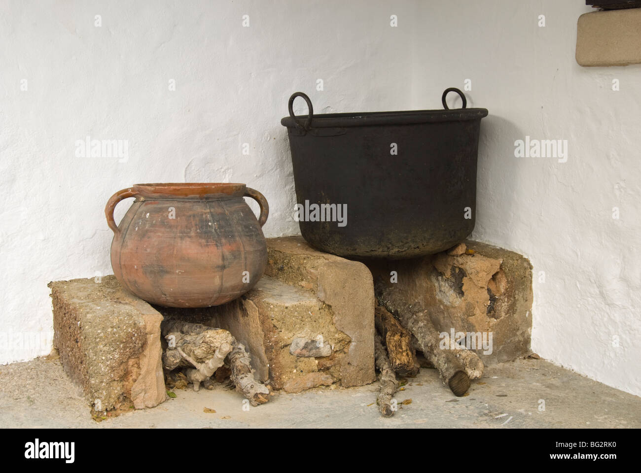 Typical Ibiza country house stove - Stock Image