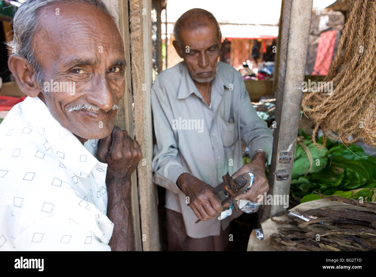 Market in Hikkaduwa, Sri Lanka - Stock Image