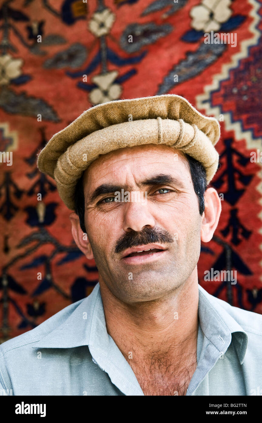 Portrait of A Pakistani man from the Hunza valley. - Stock Image