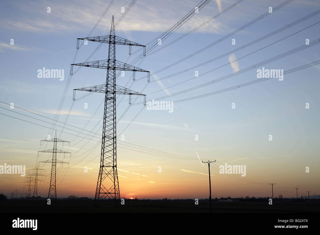 Power plants Stock Photo