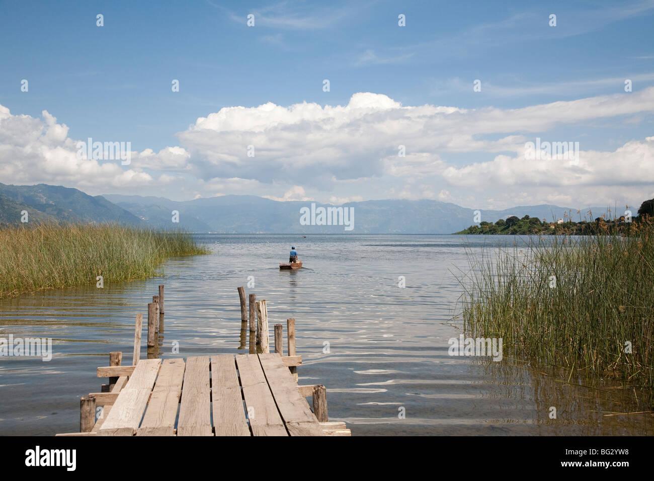 Pier Lake Atitlan Guatemala. - Stock Image