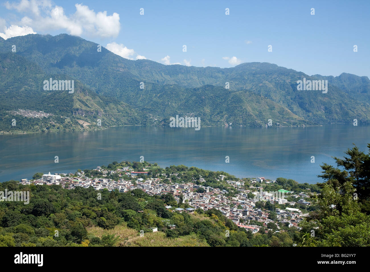 San Pedro La Laguna at Lake Atitlan Guatemala. - Stock Image