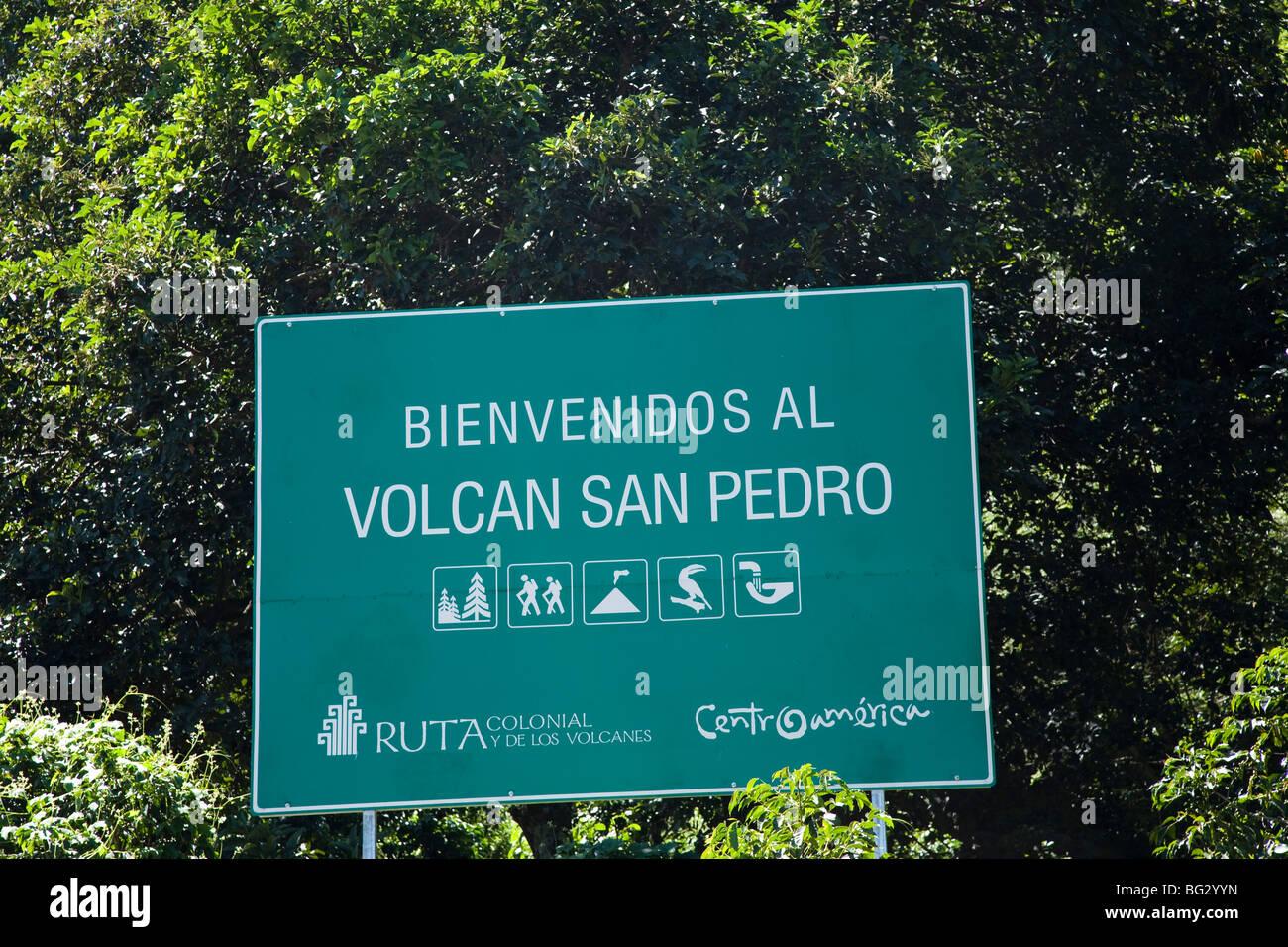 Volcano San Pedro at Lake Atitlan Guatemala. - Stock Image