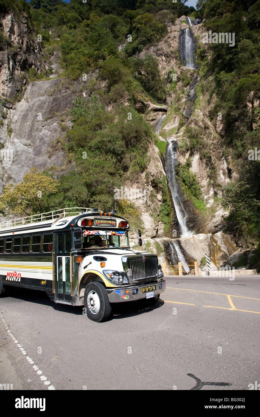 Waterfall near Panajachel Lake Atitlan Guatemala. - Stock Image