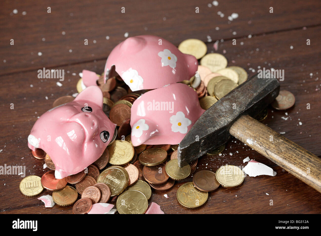 Rob the piggy bank - Stock Image