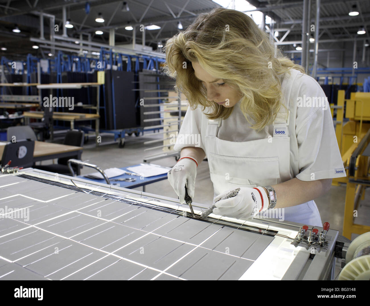 Scheuten Solar Technology GmbH . Gelsenkirchen , Germany . - Stock Image