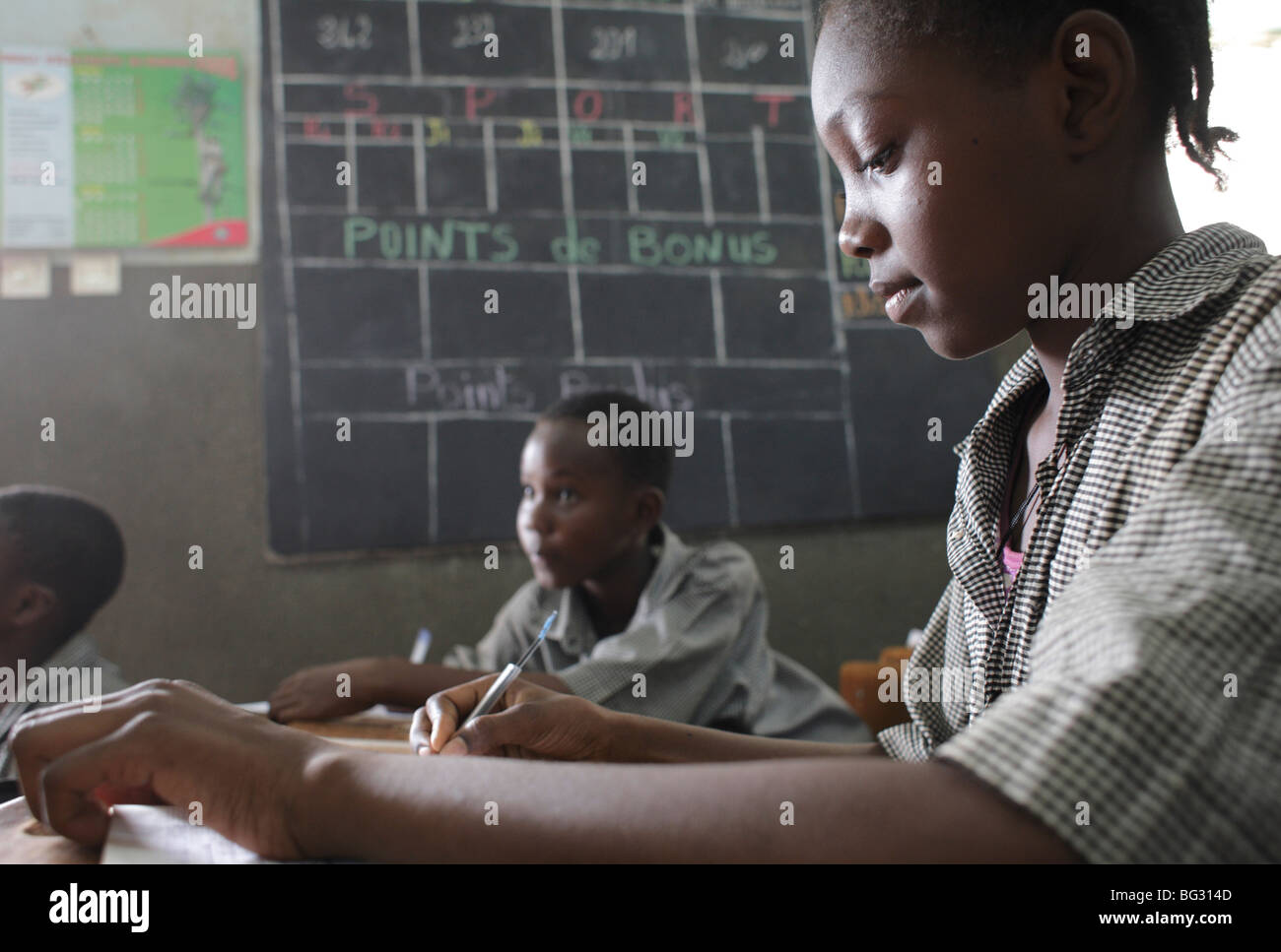 Pupils at school . FadaNgourma , Burkina Faso . - Stock Image