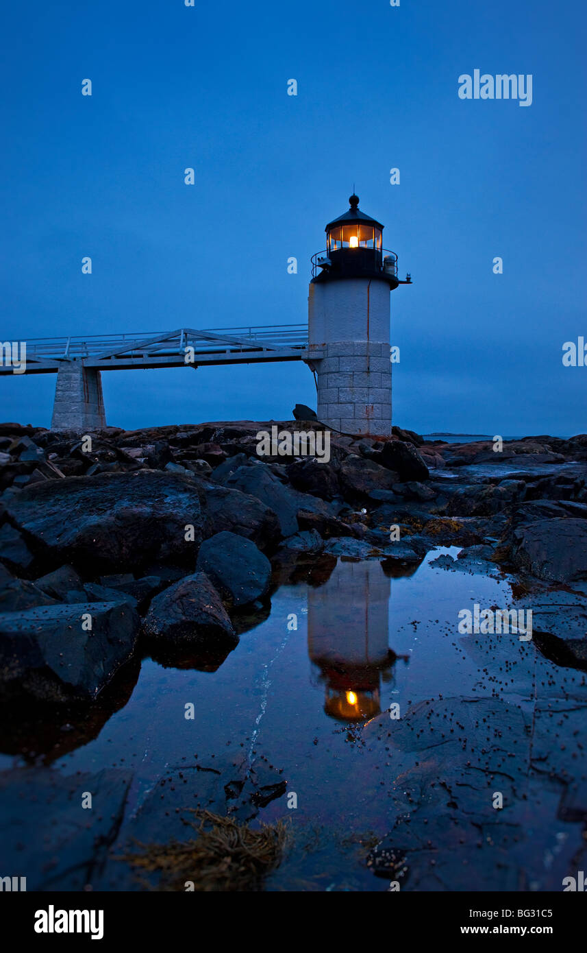 Marshall Point Light Station, Port Clyde, Maine, USA. - Stock Image