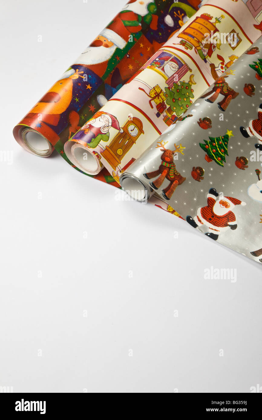 wrapping papier for surprises and gifts - Stock Image