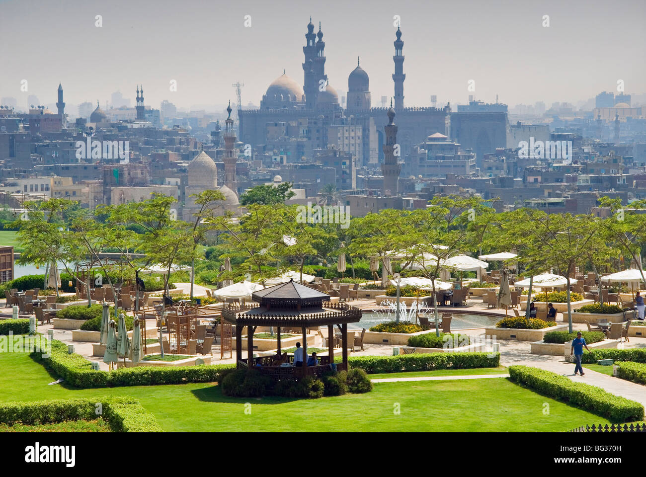Al Azhar park and Islamic area, Cairo, Egypt, North Africa, Africa - Stock Image