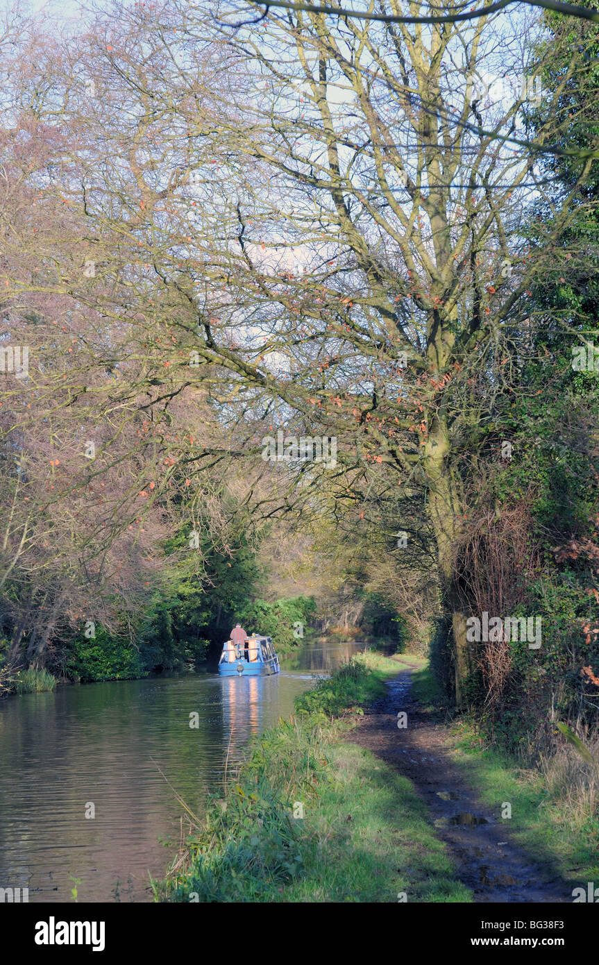 River Wey Navigation at Pyrford Surrey Engalnd - Stock Image