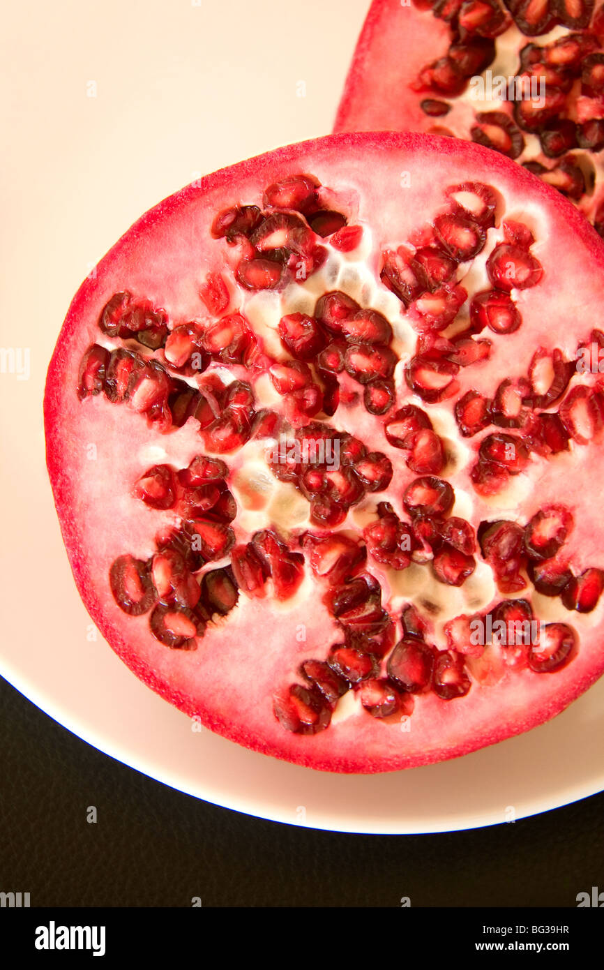Fresh pomegranate fruits - Stock Image