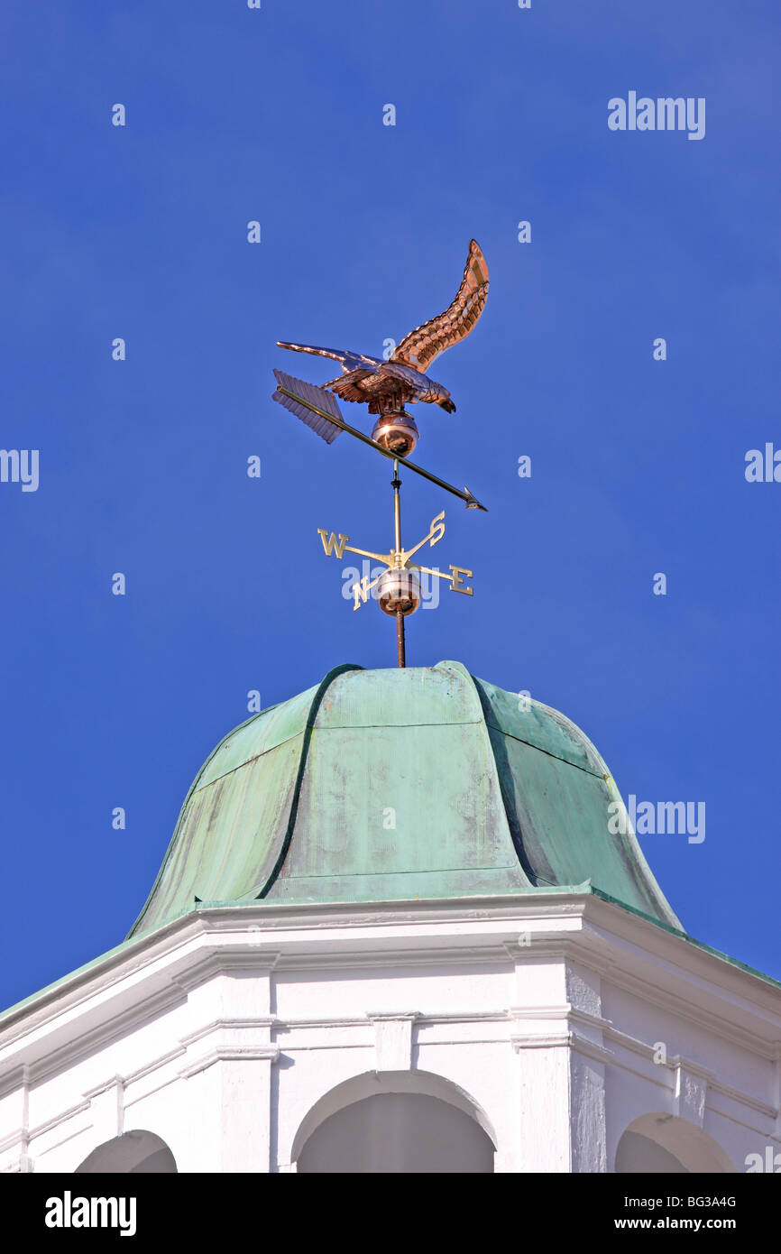 Copper weather vane on top of building, Kings Park, Long