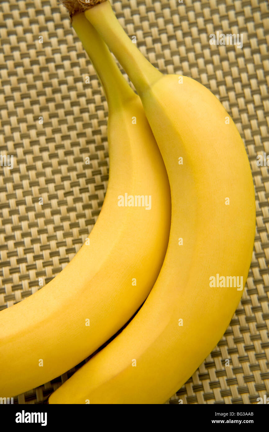Fresh whole bananas - Stock Image