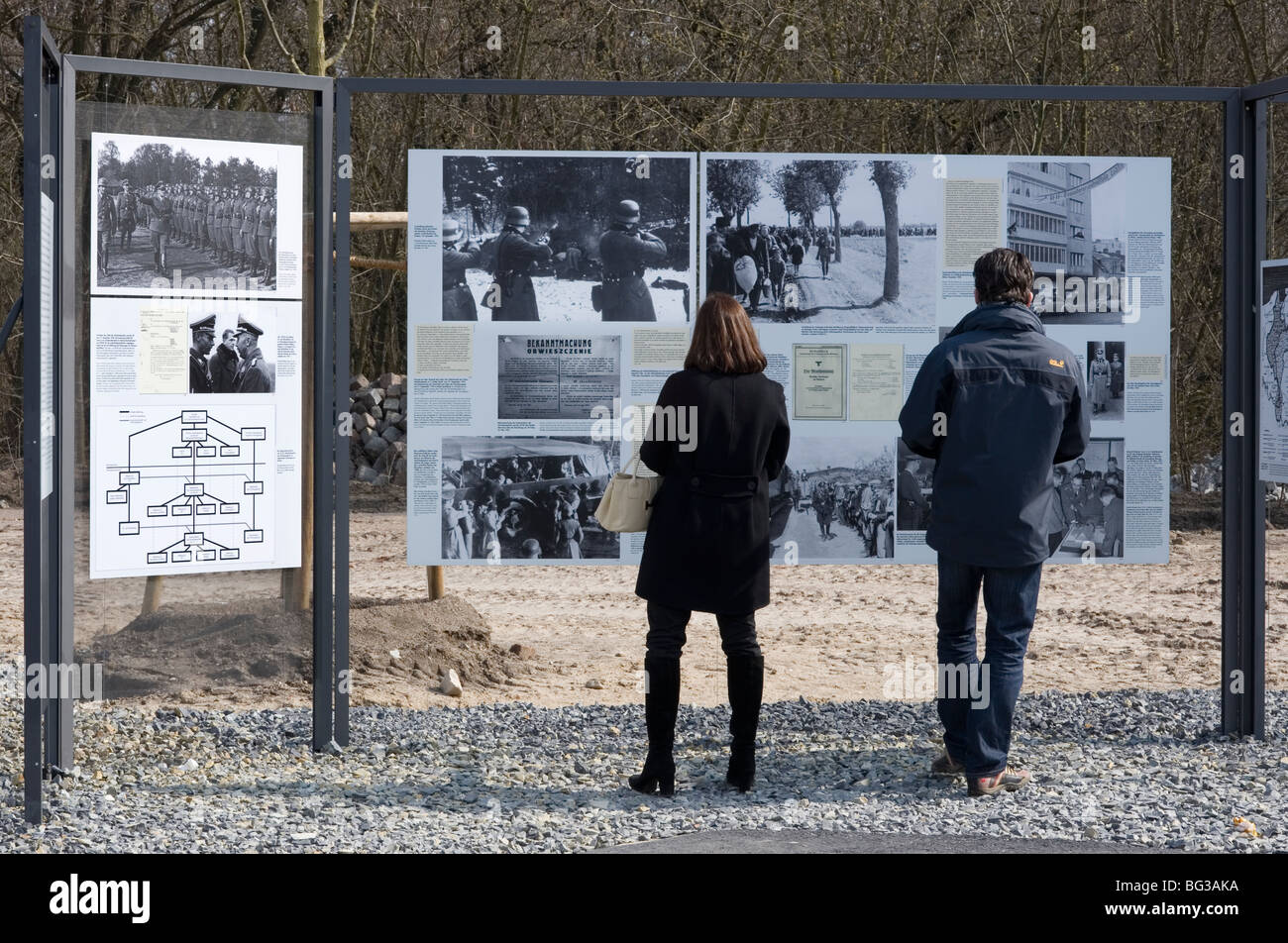 Jew Holocaust execute terror Nazi Gestapo SS Hitler museum remember Himler Berlin 2009 1989 DDR Germany Unified - Stock Image
