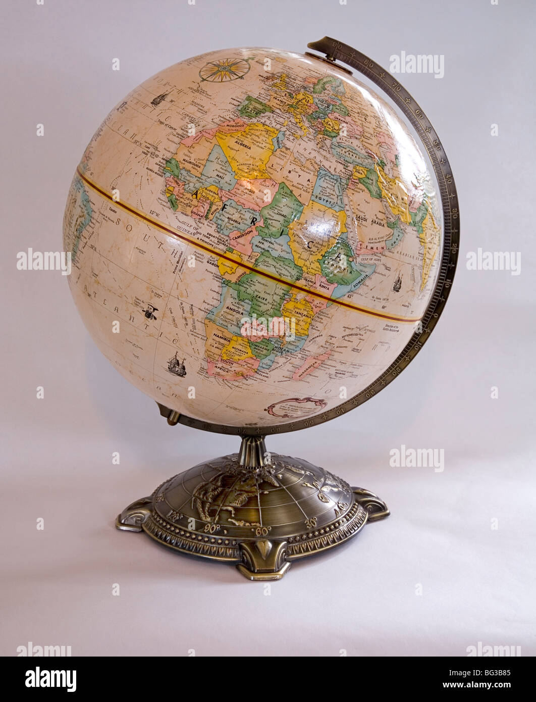 Globe World Earth Map of the World - Stock Image