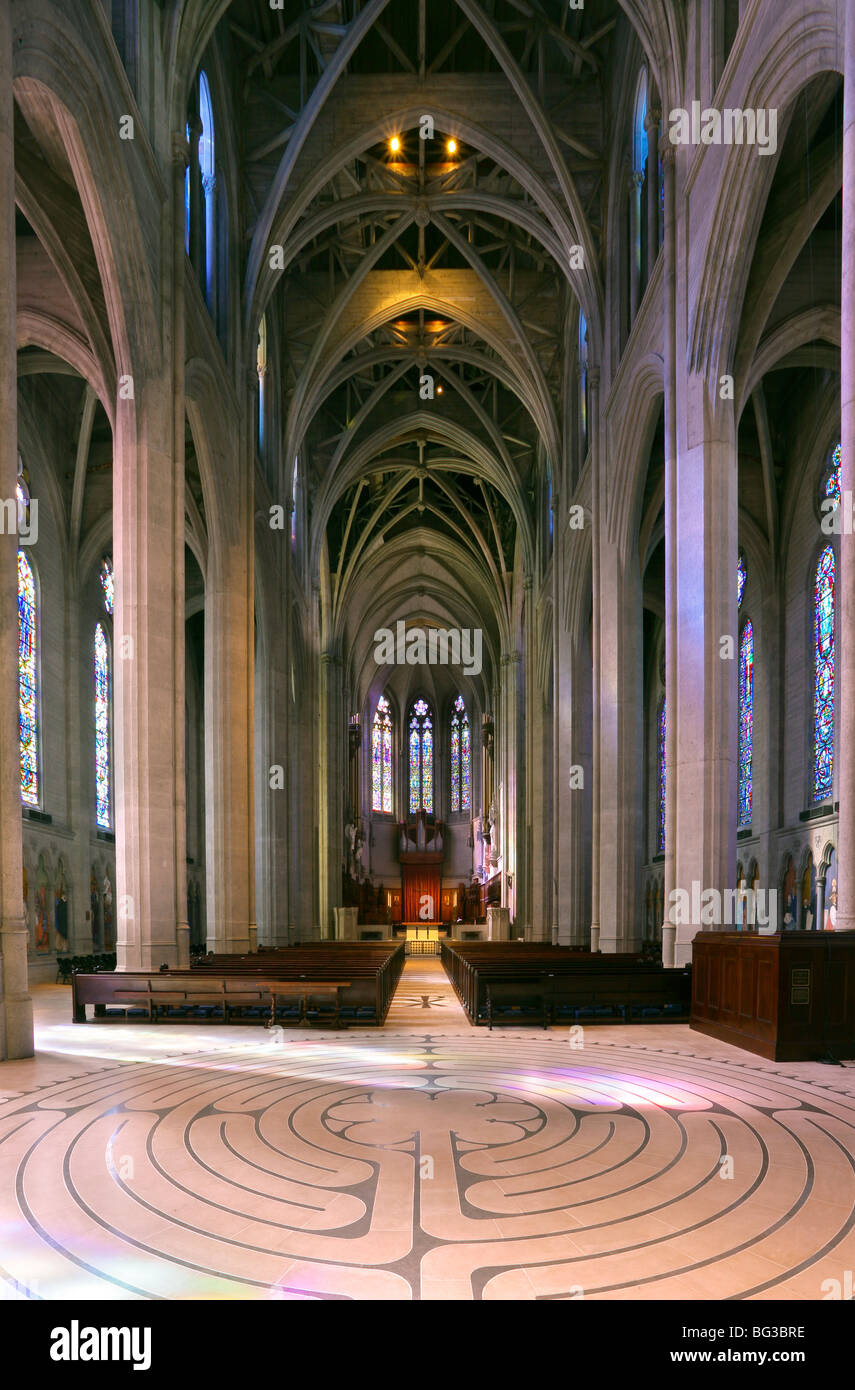 Grace Cathedral San Francisco interior - Stock Image