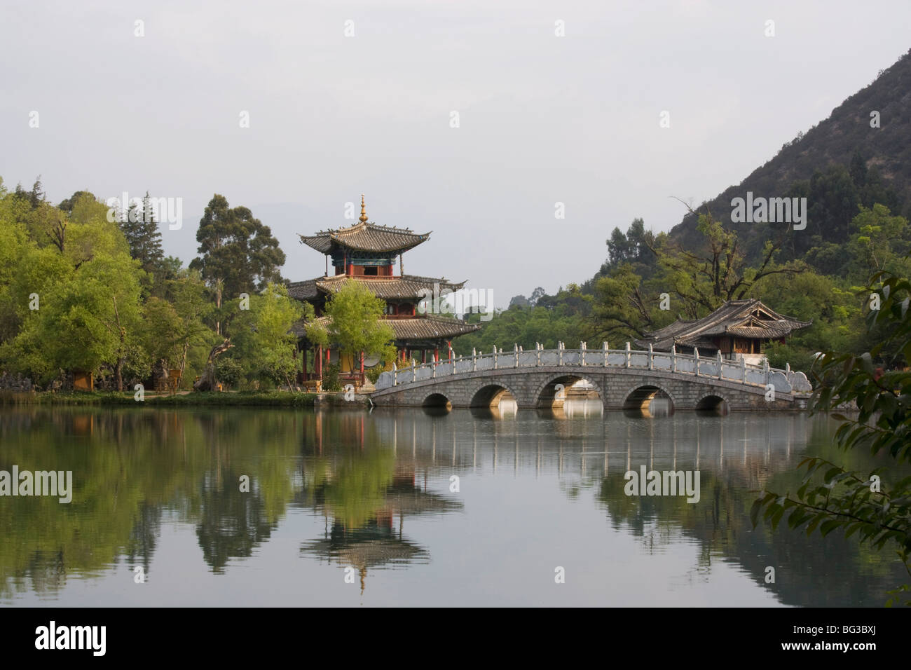 The Black Dragon Pool Park, Lijiang, Yunnan Province, China, Asia - Stock Image