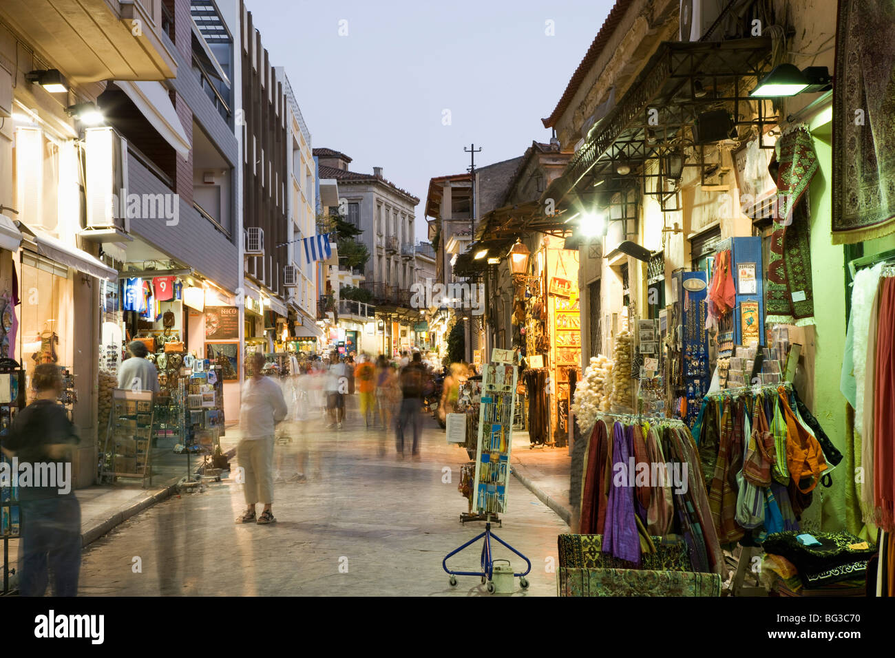 The Plaka District, Athens, Greece, Europe - Stock Image