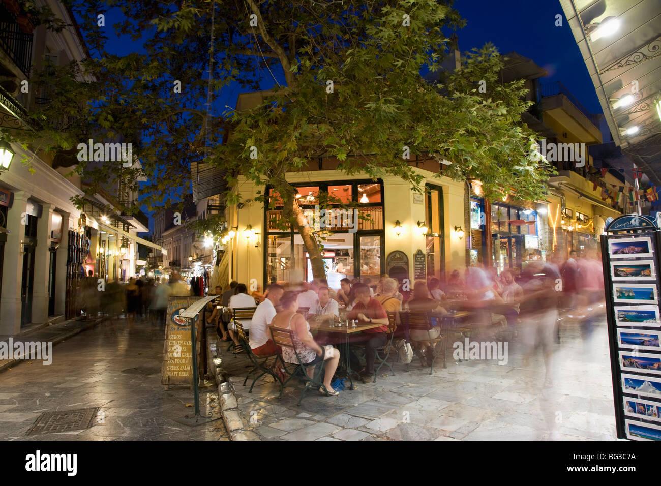 The plaka district athens greece europe stock photo