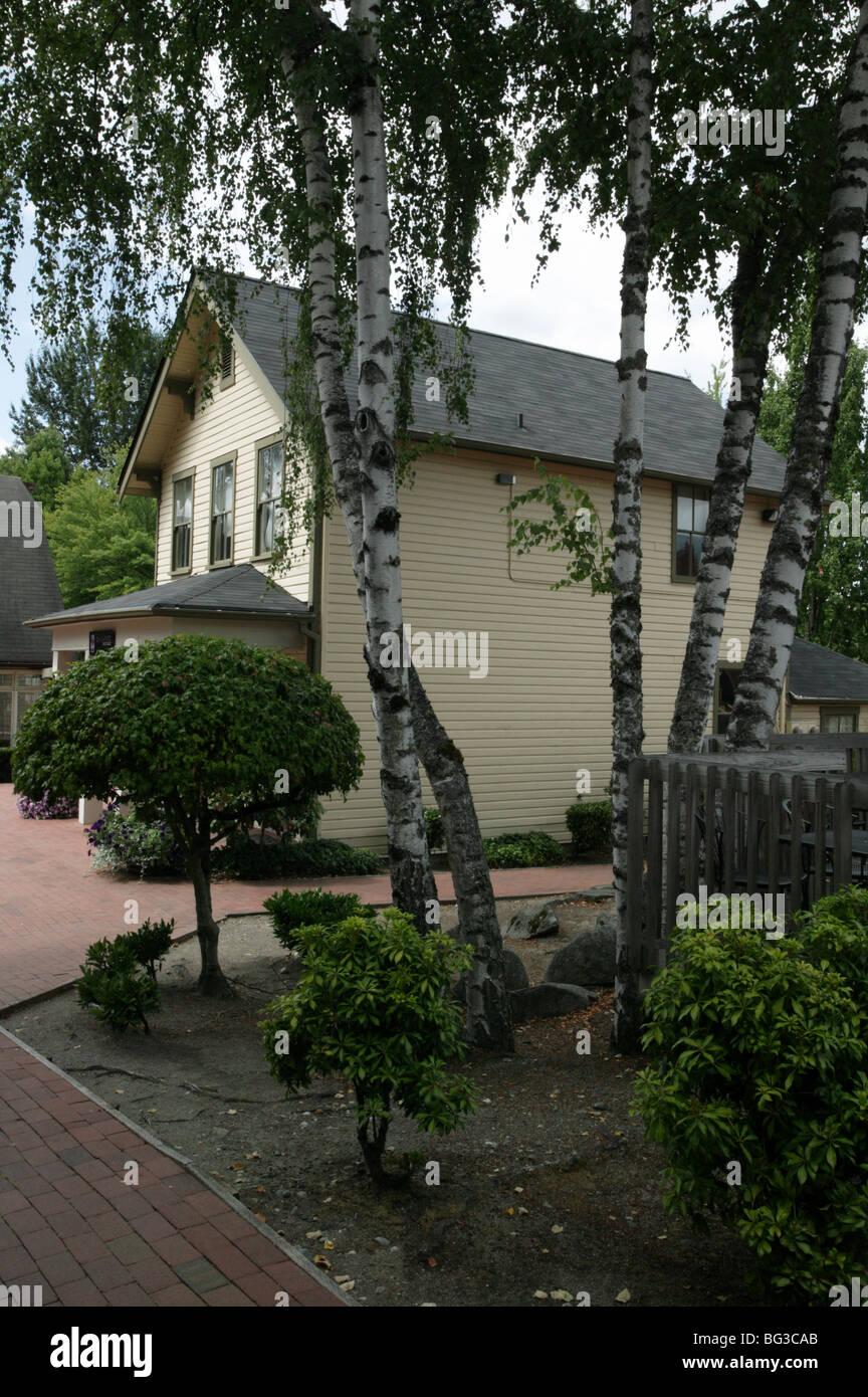 Photograph of  McQuade House, Gilman Village, Issaquah, WA - Stock Image