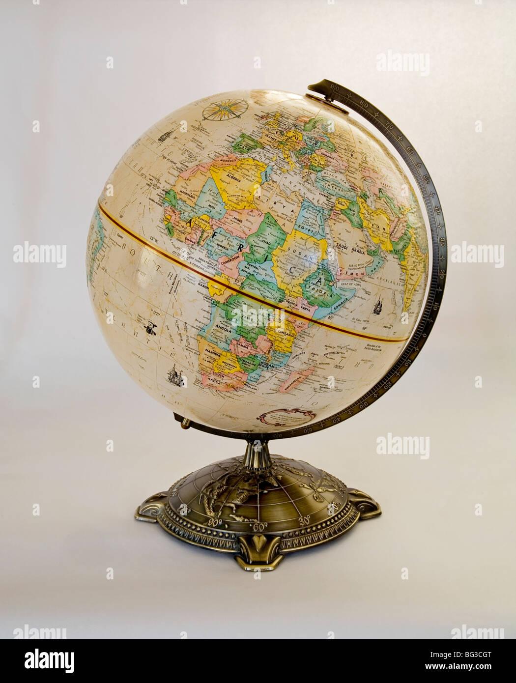 Globe Globe World Earth Map of the World - Stock Image