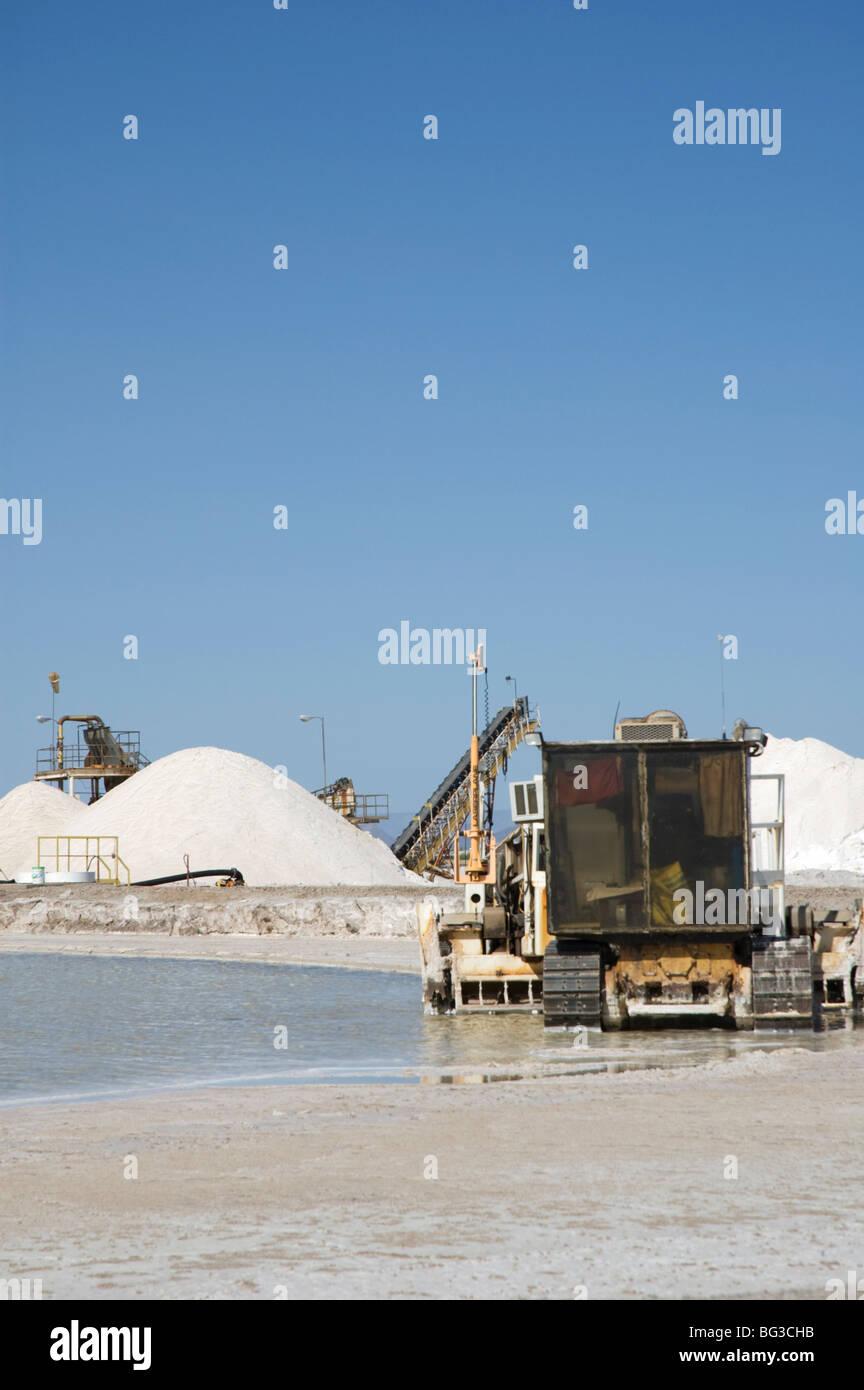 A Morton salt production facility that uses the Solar