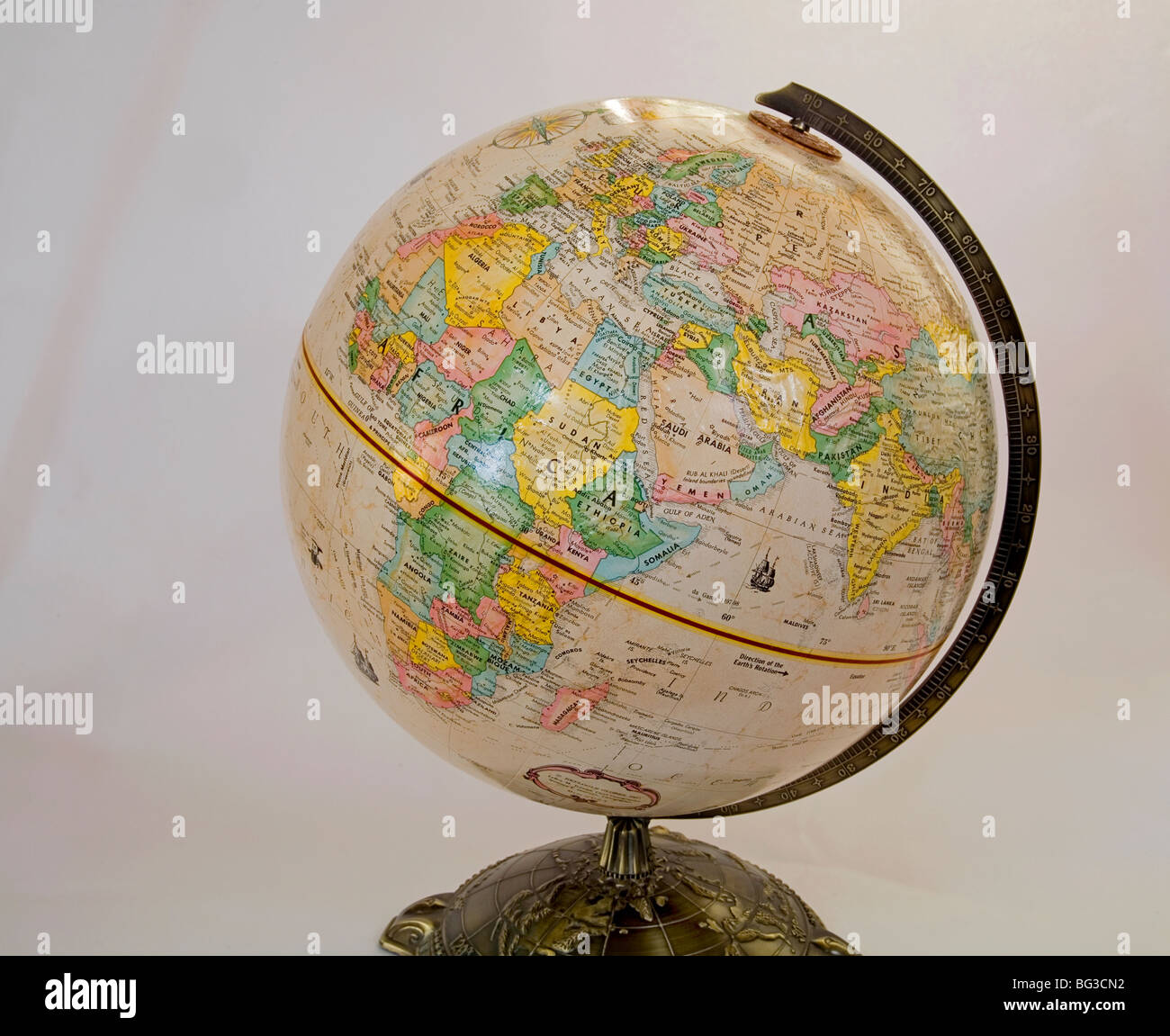 World Globe Globe Earth World Map of the World geography - Stock Image