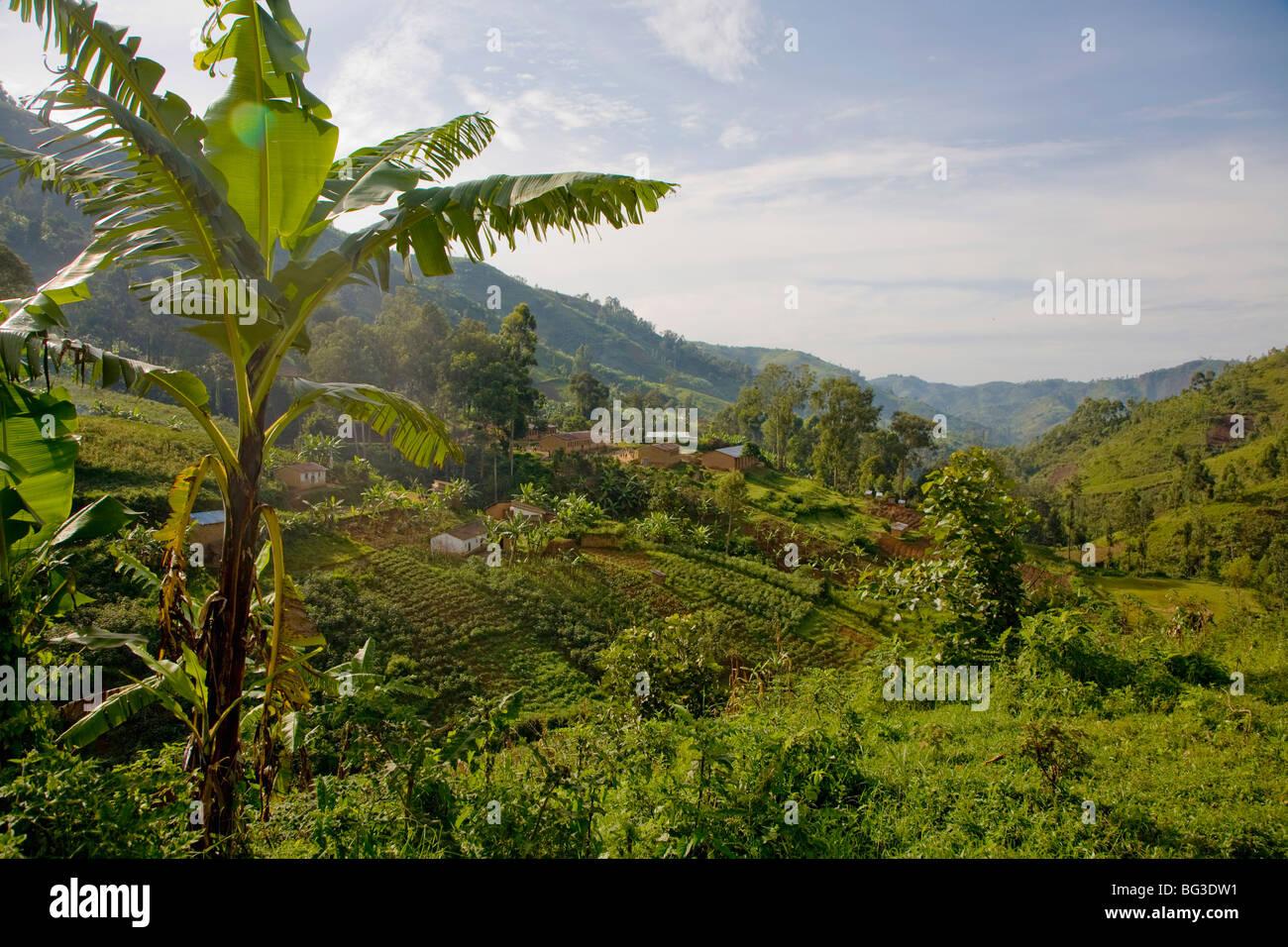 Village of Masango, Cibitoke Province, Burundi, Africa - Stock Image