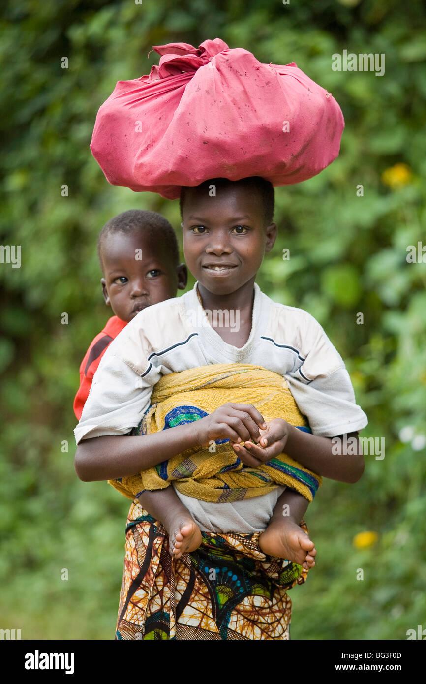 Village of Masango, Province of Cibitoke, Burundi, Africa Stock Photo