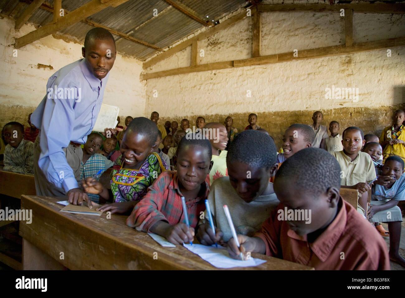 Village of Masango, Province of Cibitoke, Burundi, Africa - Stock Image