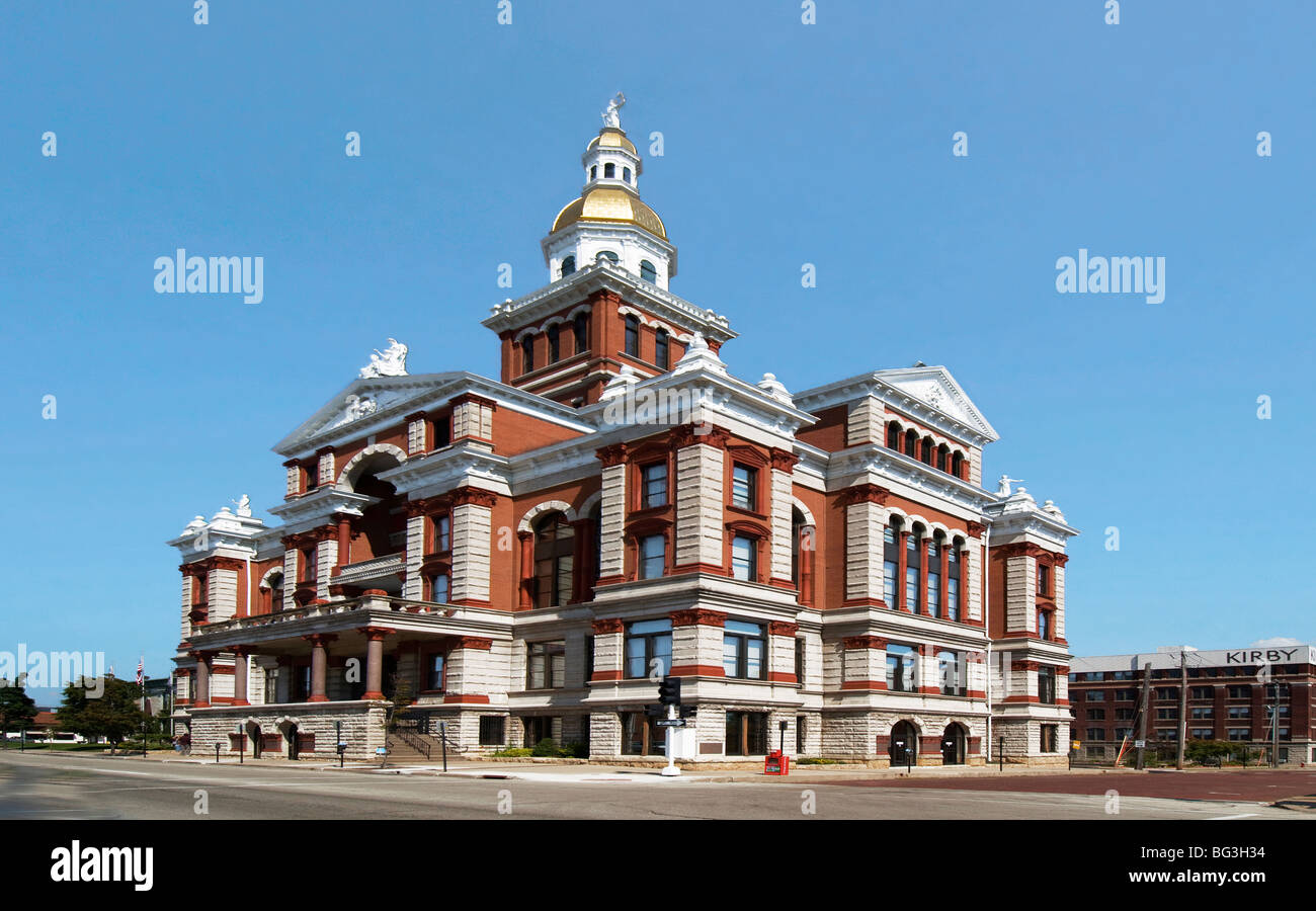 Dubuque County Courthouse in Dubuque, Iowa - Stock Image