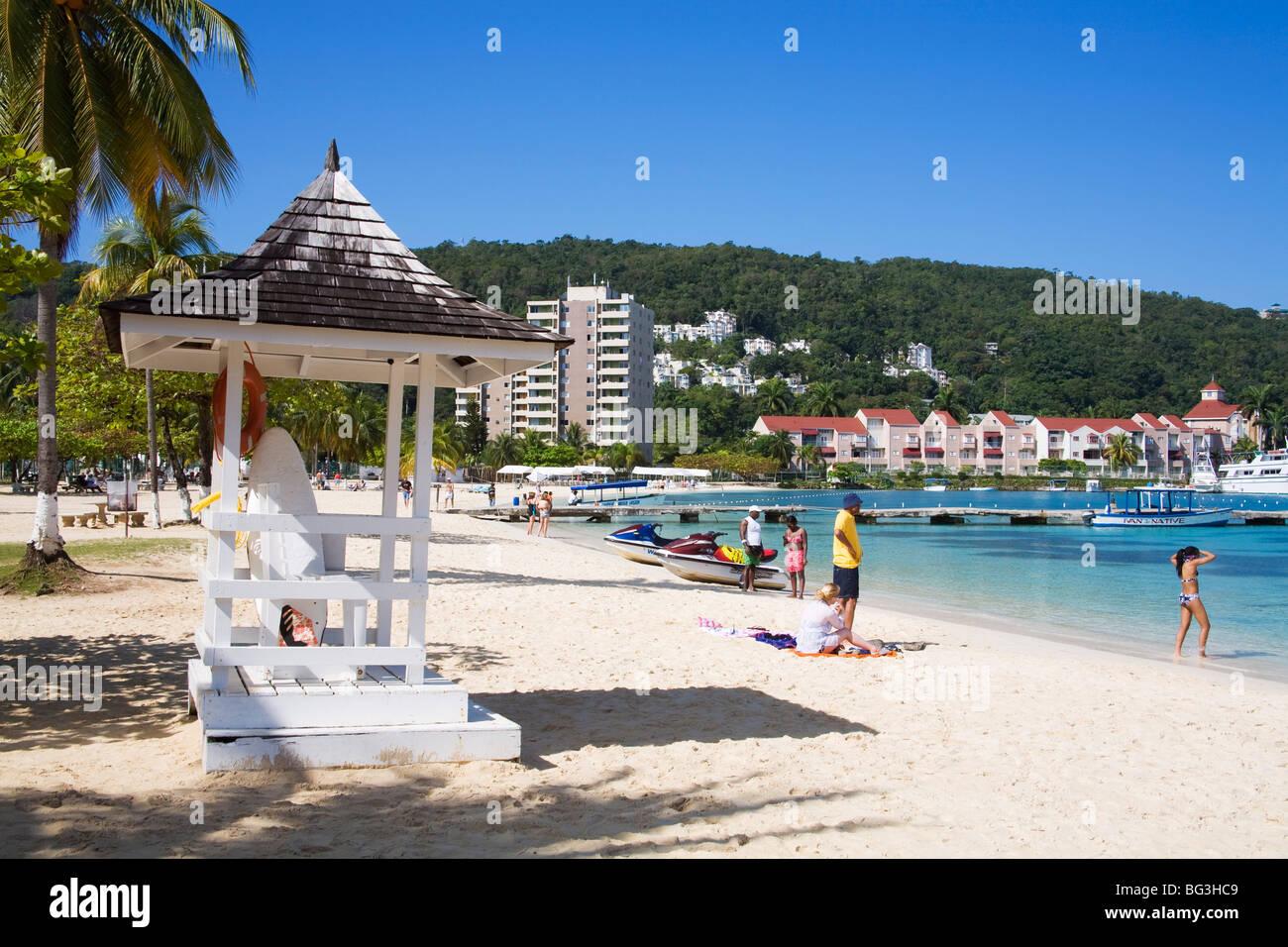 Turtle Beach, Ocho Rios, St. Ann's Parish, Jamaica, West Indies, Caribbean, Central America - Stock Image