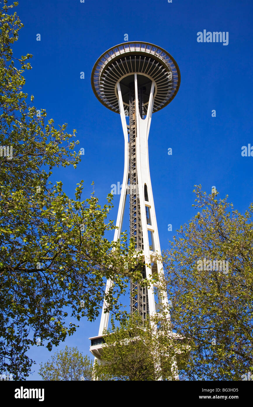 Space Needle, Seattle Center, Seattle, Washington State, United States of America, North America Stock Photo