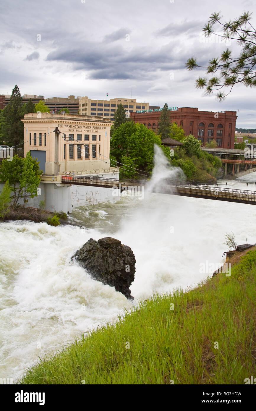 Spokane River in major flood, Riverfront Park, Spokane, Washington State, United States of America, North America Stock Photo
