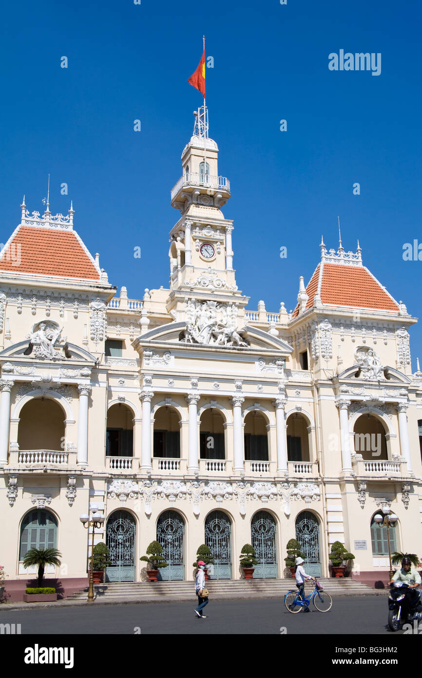 HCMC's People's Committee Building, (Hotel de Ville), Hoh Chi Minh City (Saigon), Vietnam, Indochina, Southeast - Stock Image