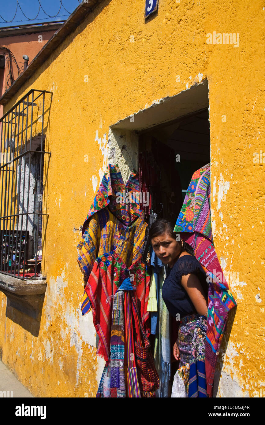 Store, Antigua City, Guatemala, Central America - Stock Image