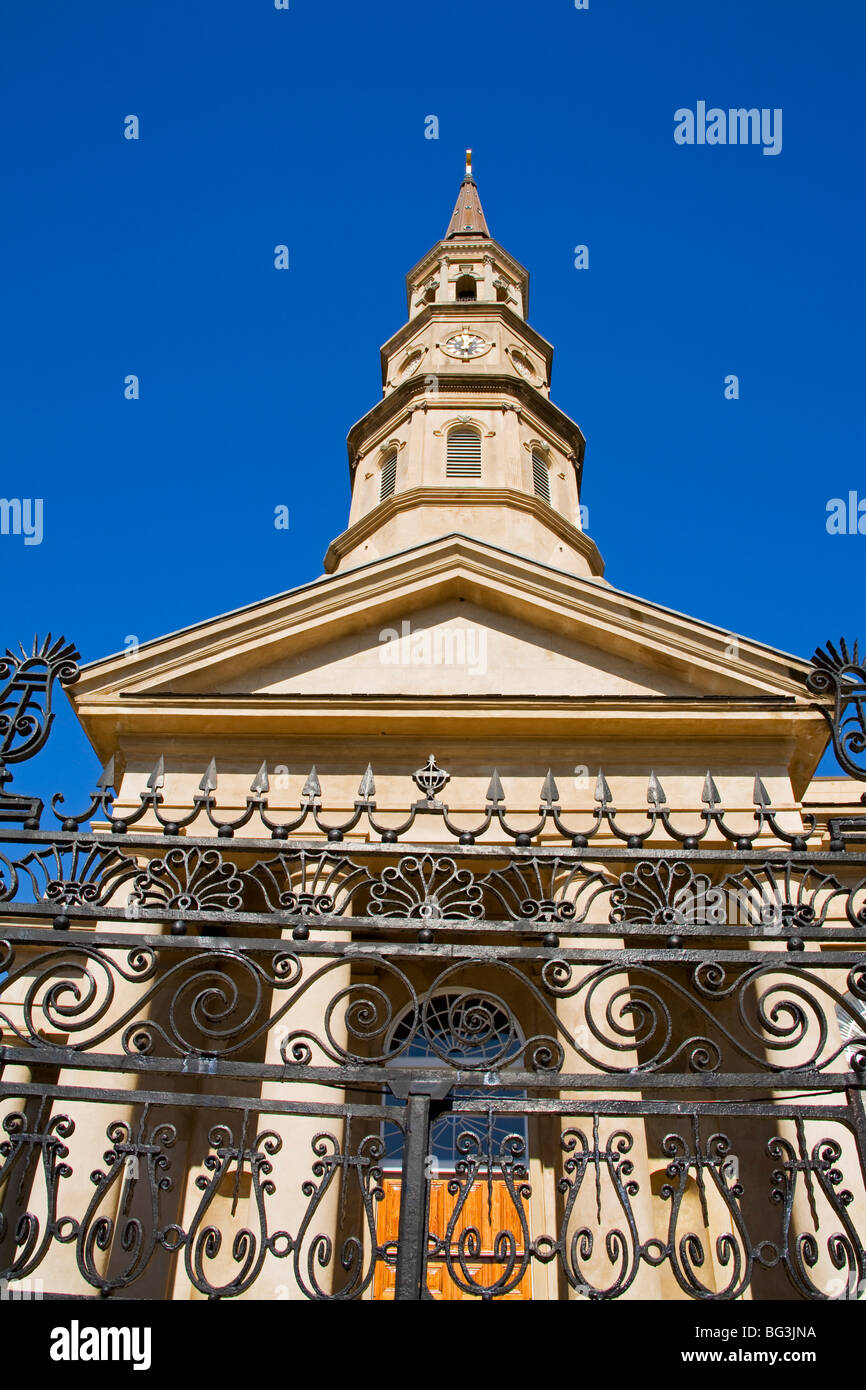 St. Philip's Episcopal Church, Charleston, South Carolina, United States of America, North America - Stock Image