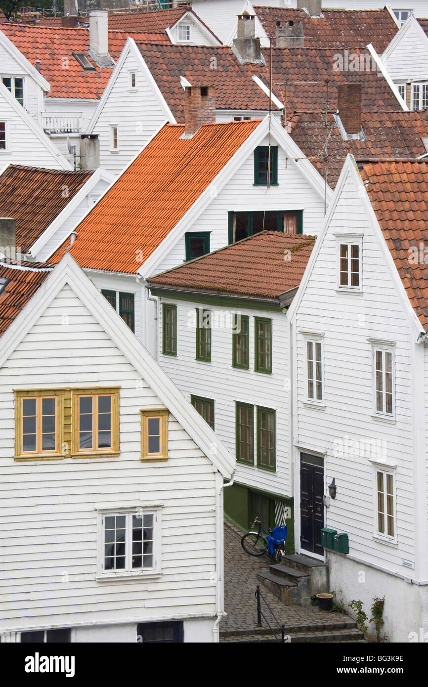 Clausegaten Street in Gamble (Old) Stavanger, Stavanger City, Ragoland District, Norway, Scandinavia, Europe - Stock Image